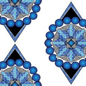 Sapphire-Pearls