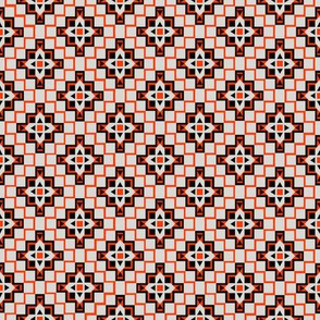 Aztec - Orange and Black