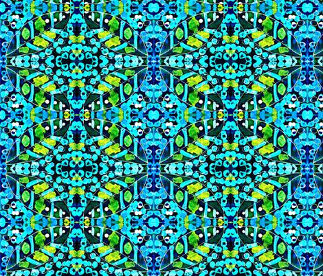 batik leaves fabric by julia_weston_textiles on Spoonflower - custom fabric