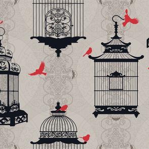 Julie's Empty Bird Cages WG/BR