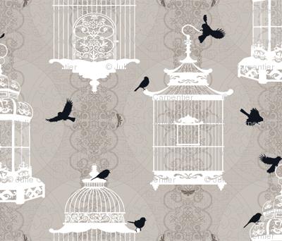 Julie's Empty Bird Cages WG/W