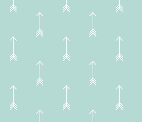 mint arrow fabric by charliejane on Spoonflower - custom fabric
