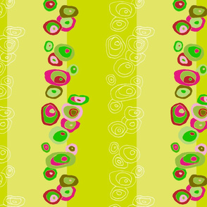 Fiaba green flower stripes