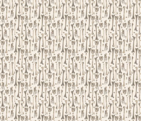 Bones fabric by deborahballingerillustrations on Spoonflower - custom fabric