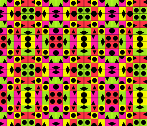 TUTTI FRUTTI SUMMER large scale geometric fabric by paysmage on Spoonflower - custom fabric