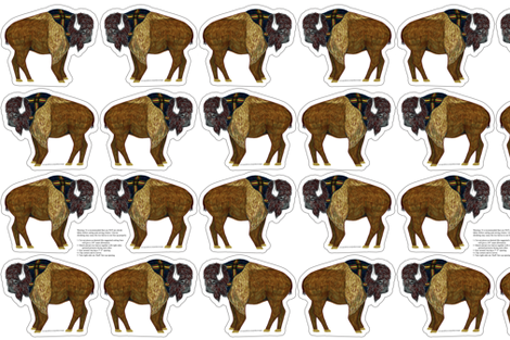 buffalo plushie yard fabric by evenspor on Spoonflower - custom fabric