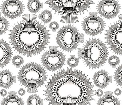Mexican Hearts fabric by deborahballingerillustrations on Spoonflower - custom fabric