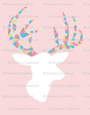 Confetti deer on pink