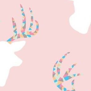 Confetti deer on pink