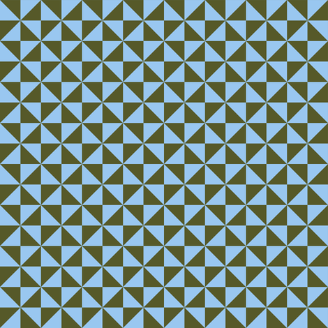 olive and sky blue pinwheels fabric by weavingmajor on Spoonflower - custom fabric