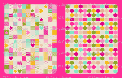 Hearts & Stars Baby Blanket Cut and Sew Kit