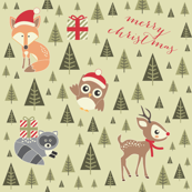 Holiday Woodland Friends