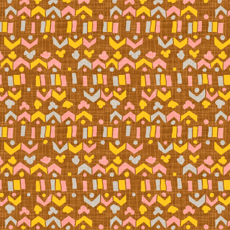 Brown Linen Geo fabric by katrinazerilli on Spoonflower - custom fabric