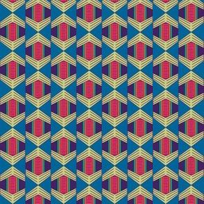 African Weave Hexagon Drop
