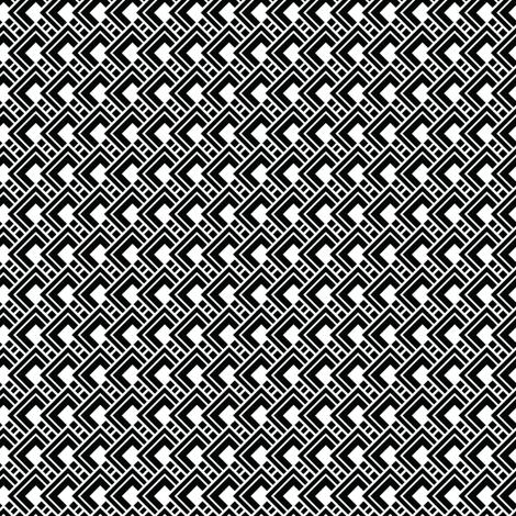 Funky Black Geometric fabric by jenniferlabre on Spoonflower - custom fabric