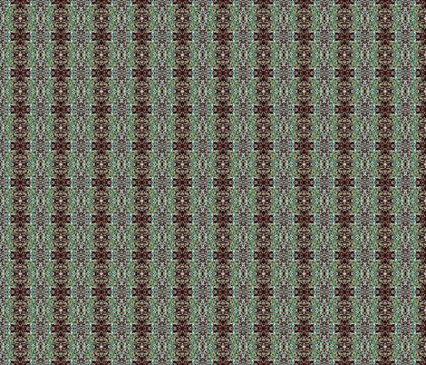 springmoss_brown_teal fabric by tangledvinestudio on Spoonflower - custom fabric