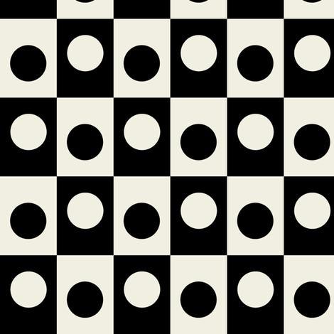 Geometric Yin Yang fabric by abbyg on Spoonflower - custom fabric