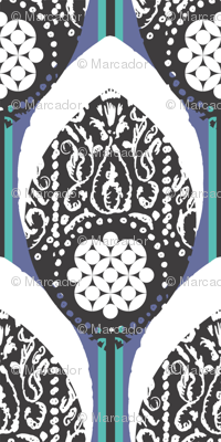 PLUMAS - peacock / stone