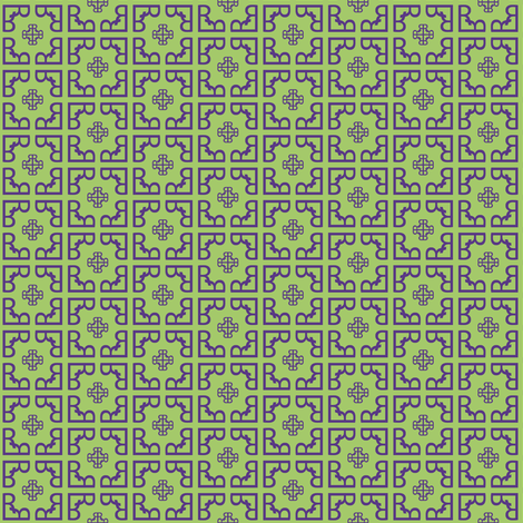 Just_what_the_doctor_ordered_-synergy_0011_violet_on_yellow_green fabric by fireflower on Spoonflower - custom fabric