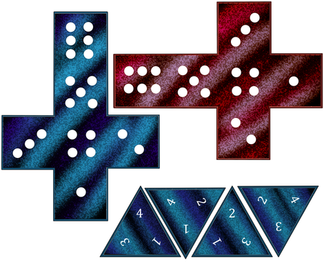 Dice Pillows fabric by undercovernerd on Spoonflower - custom fabric