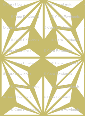 Mustard and Pale Yellow Geometric Floral