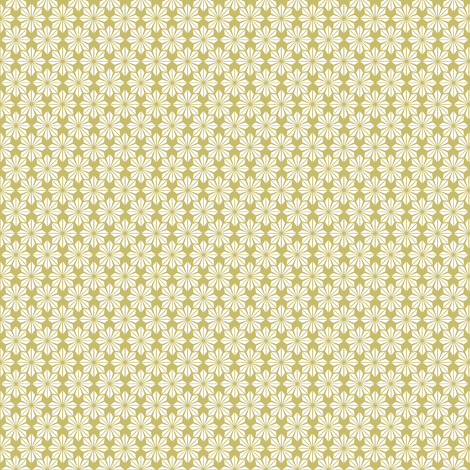 Mustard and Pale Yellow Geometric Floral fabric by crowlands on Spoonflower - custom fabric