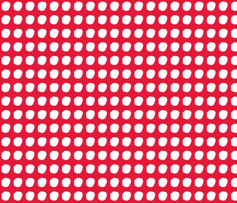 snow in red fabric by cherryjam on Spoonflower - custom fabric