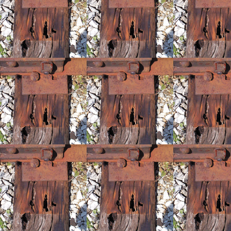 Railroad Ties 7 fabric by animotaxis on Spoonflower - custom fabric