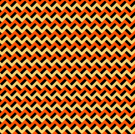 Pumpkin-esque zigzags fabric by petitspixels on Spoonflower - custom fabric