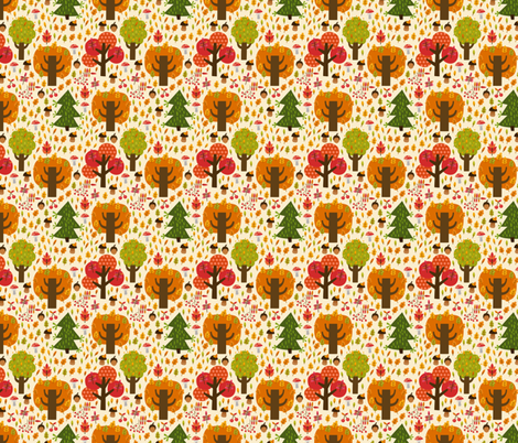 Autumn forest fabric by valendji on Spoonflower - custom fabric