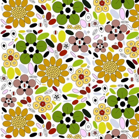 FlowerShoesNew fabric by crisjof on Spoonflower - custom fabric
