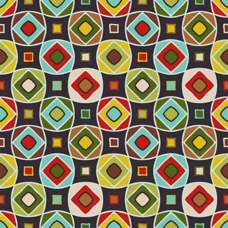 Multi Geo-Patch fabric by jumeaux on Spoonflower - custom fabric
