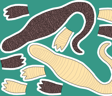 Sew a Gator! fabric by pond_ripple on Spoonflower - custom fabric