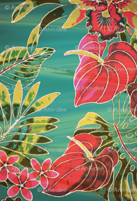 vintage tropical flowers