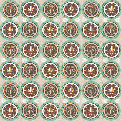 Architectural Circles fabric by slumbermonkey on Spoonflower - custom fabric