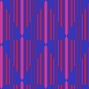 Berry Chevron Pinstripe