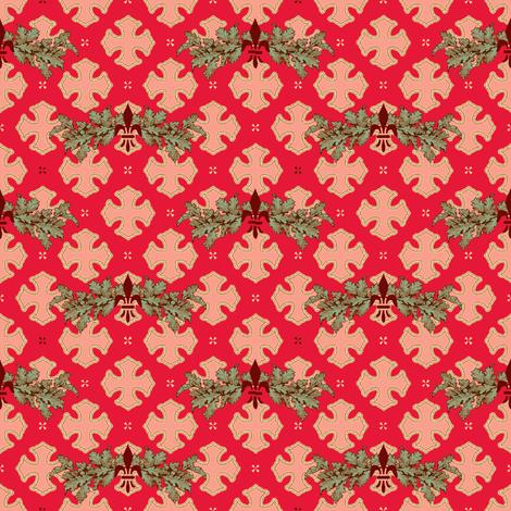 oak crusader fabric by keweenawchris on Spoonflower - custom fabric