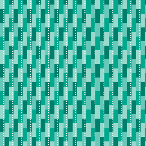 Teal Tiles fabric by bojudesigns on Spoonflower - custom fabric
