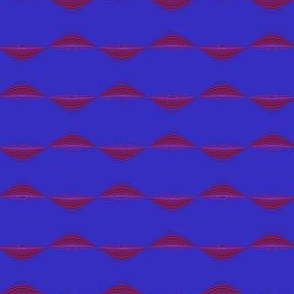 Berry Wavy Stripe Horizontal © Gingezel™