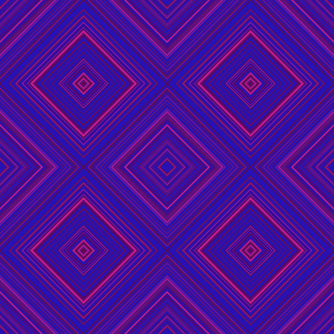 Berry Diamond Geometric © Gingezel™ fabric by gingezel on Spoonflower - custom fabric
