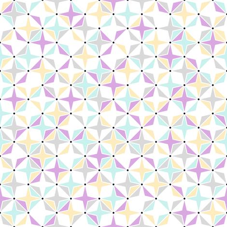 Silky Stars fabric by mongiesama on Spoonflower - custom fabric
