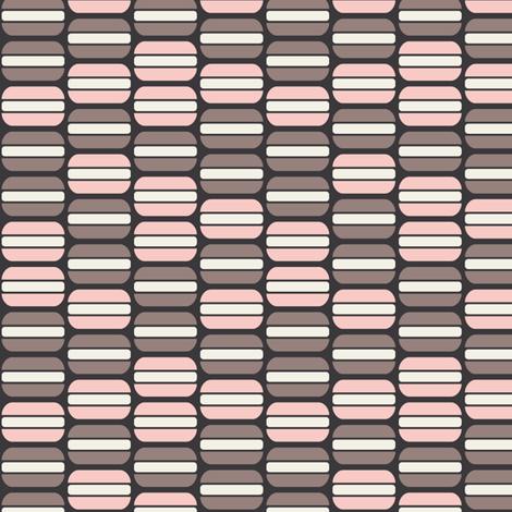 Macarons (Strawberry Mocha) fabric by kate_legge on Spoonflower - custom fabric