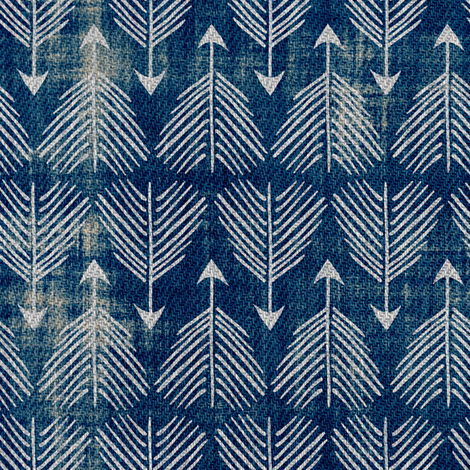 Django Arrows (indigo) fabric by nouveau_bohemian on Spoonflower - custom fabric