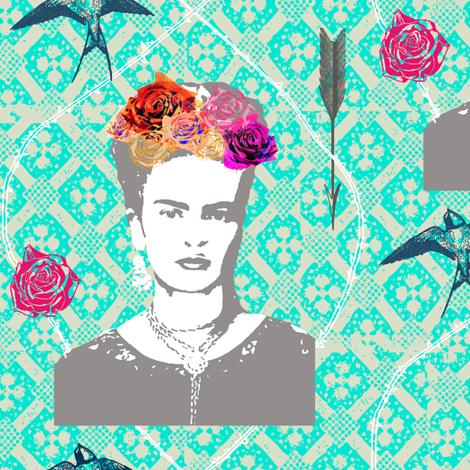 FRIDA  3a fabric by nouveau_bohemian on Spoonflower - custom fabric