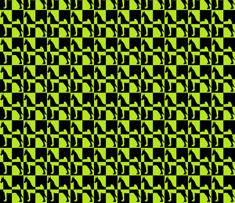 Lime Colorblock fabric by redmares on Spoonflower - custom fabric