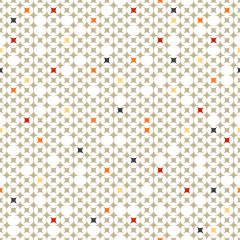 here and there in grey fabric by wilburrina on Spoonflower - custom fabric