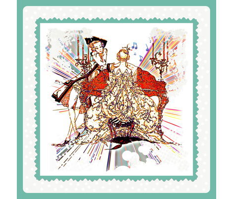 Chamber Music fabric by whimzwhirled on Spoonflower - custom fabric