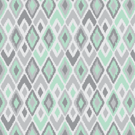 Pastel Ikat fabric by stephloren on Spoonflower - custom fabric