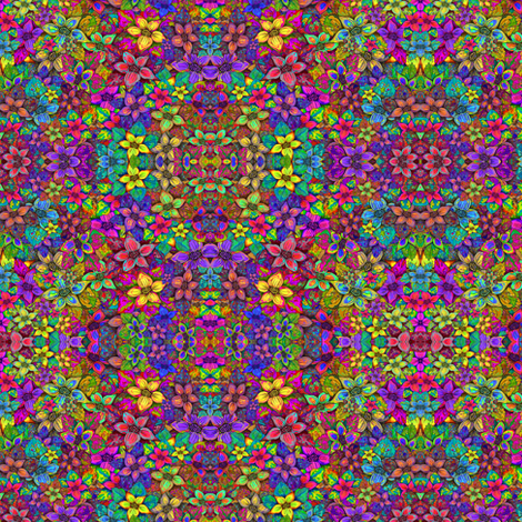 FLOWERS MISH MASH MINI fabric by paysmage on Spoonflower - custom fabric