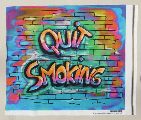 QUITE SMOKING MULTICOLOURED PILLOW PANEL